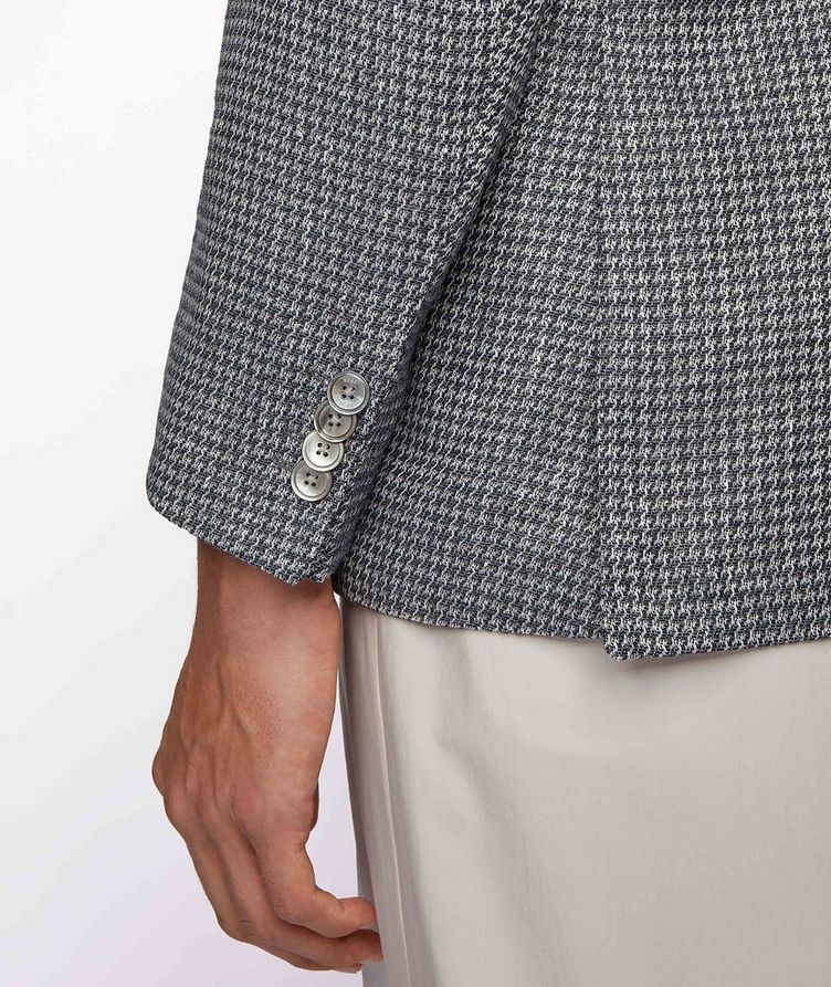 Harlay2 Houndstooth Linen-Wool Sports Jacket image 3