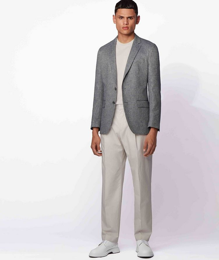 Harlay2 Houndstooth Linen-Wool Sports Jacket image 4