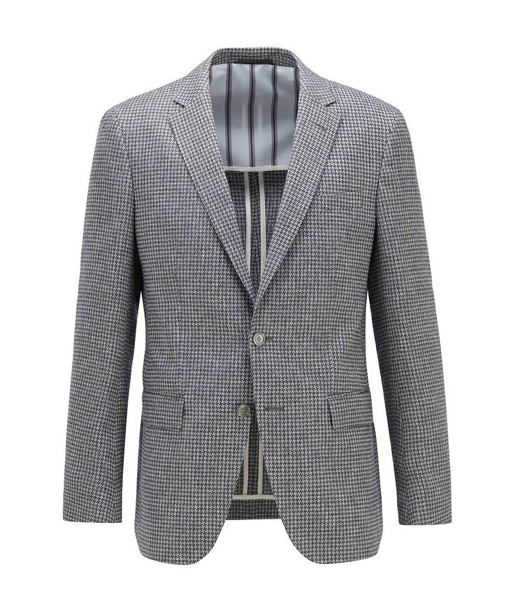 Harlay2 Houndstooth Linen-Wool Sports Jacket image 0