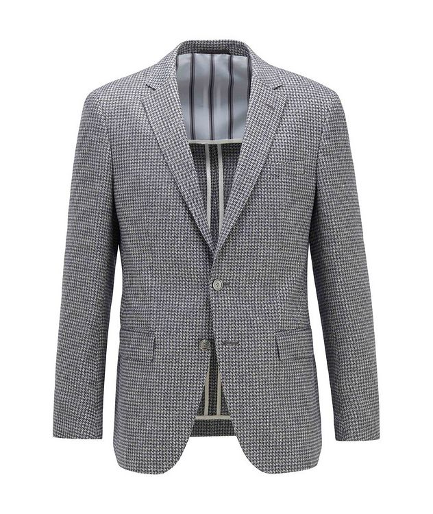 Harlay2 Houndstooth Linen-Wool Sports Jacket picture 1