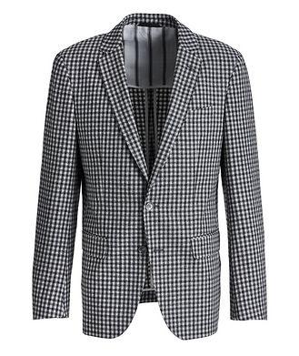 BOSS Hartlay2 Gingham Cotton-Wool Sports Jacket