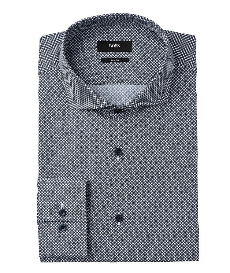Slim Fit Bird's Eye Dress Shirt image 0