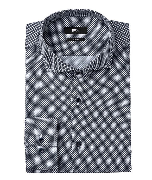 Slim Fit Bird's Eye Dress Shirt picture 1