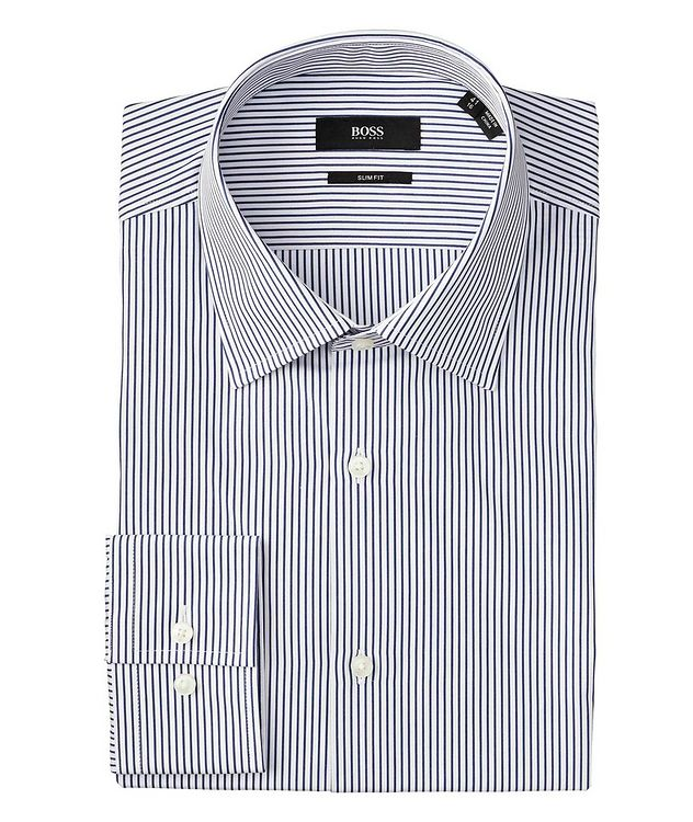 Slim Fit Pinstriped Dress Shirt picture 1