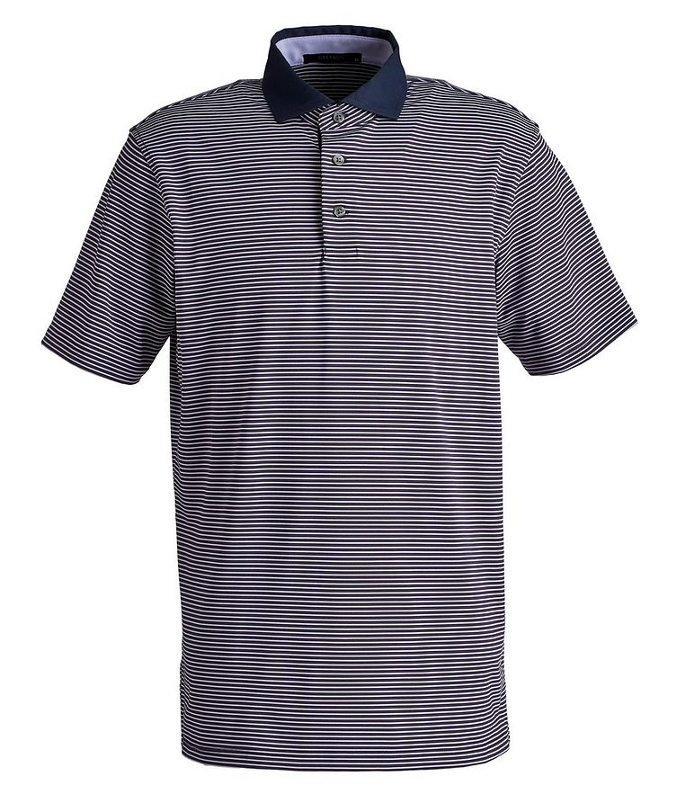 Striped Performance Polo image 0