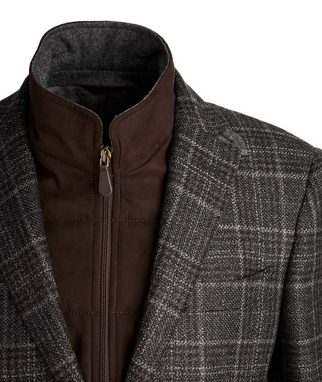 Checked Wool Sports Jacket picture 3