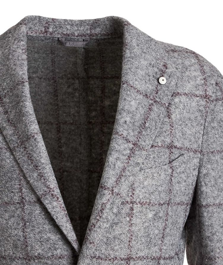 Windowpane Wool-Blend Sports Jacket image 2