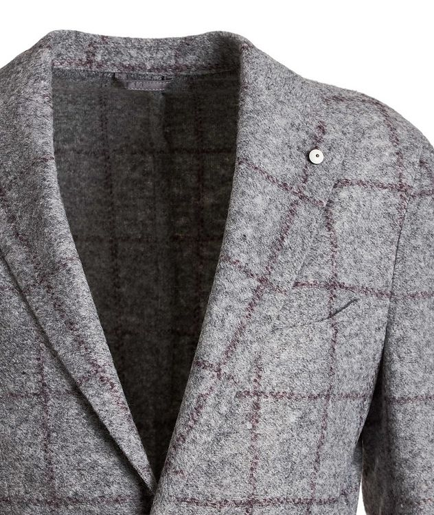 Windowpane Wool-Blend Sports Jacket picture 3