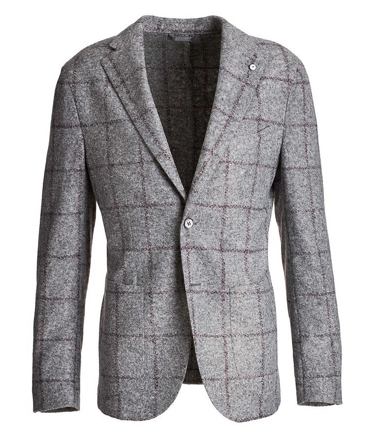 Windowpane Wool-Blend Sports Jacket image 0