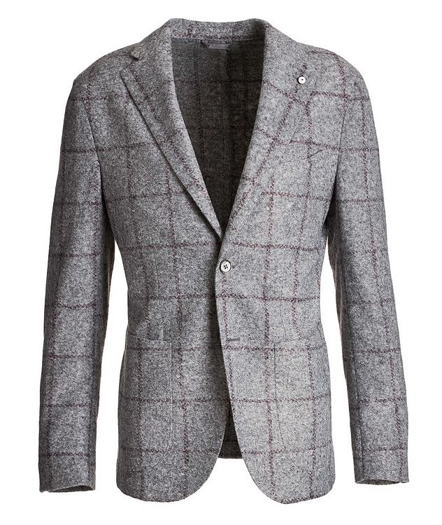 Windowpane Wool-Blend Sports Jacket picture 1