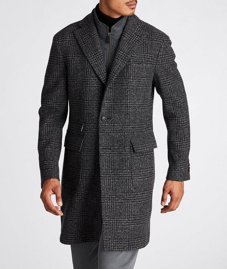 Checked Virgin Wool Overcoat image 1