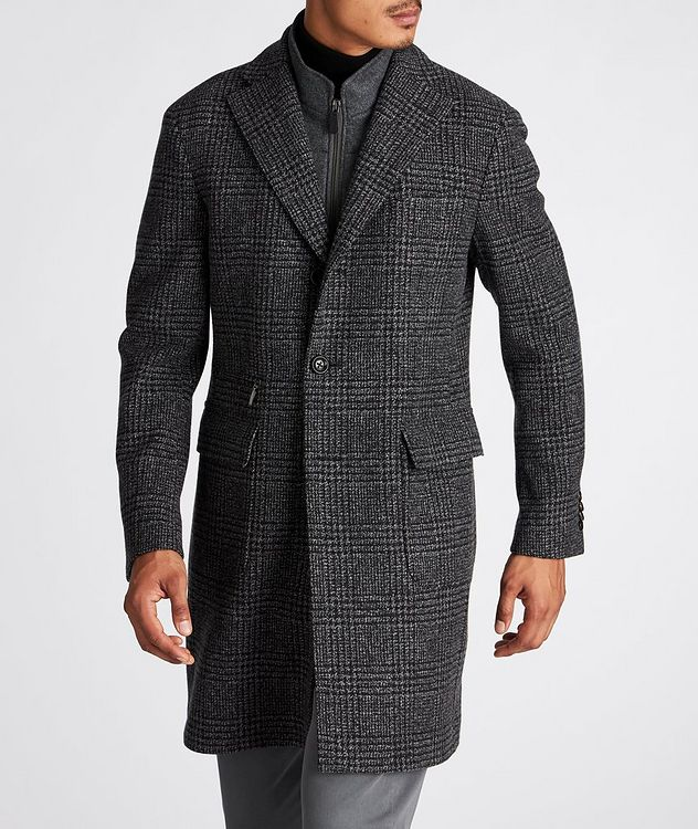 Checked Virgin Wool Overcoat picture 2