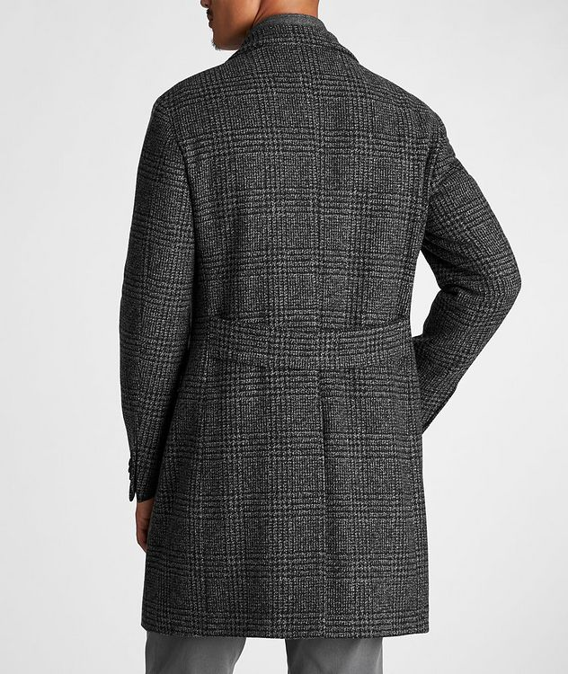 Checked Virgin Wool Overcoat picture 3