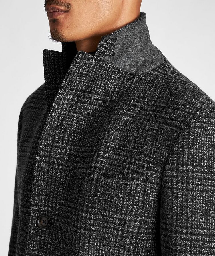 Checked Virgin Wool Overcoat image 3