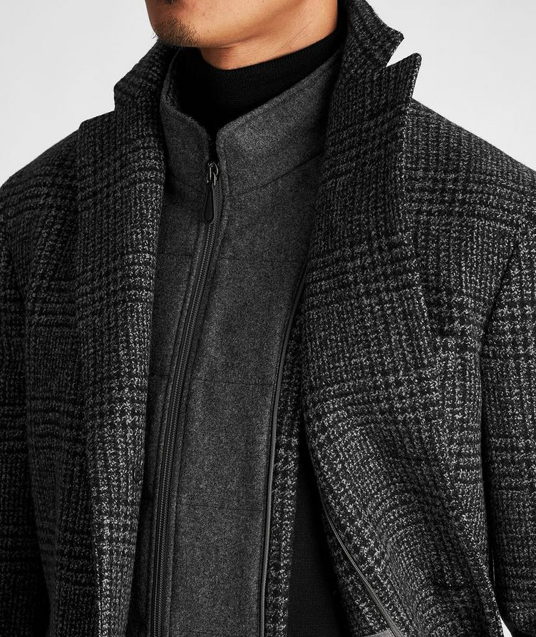 Checked Virgin Wool Overcoat image 4