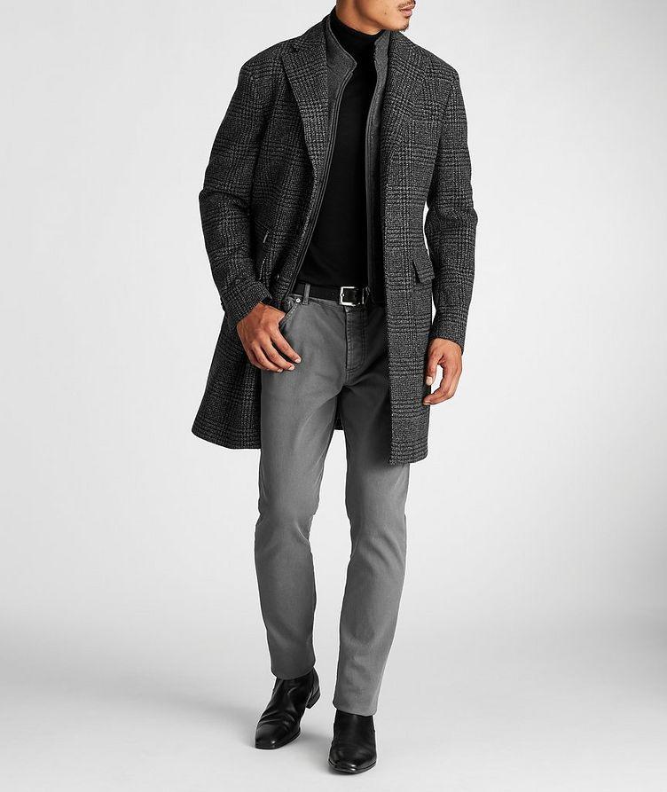 Checked Virgin Wool Overcoat image 5