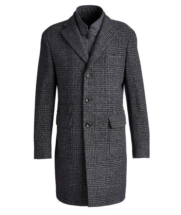 Checked Virgin Wool Overcoat image 0