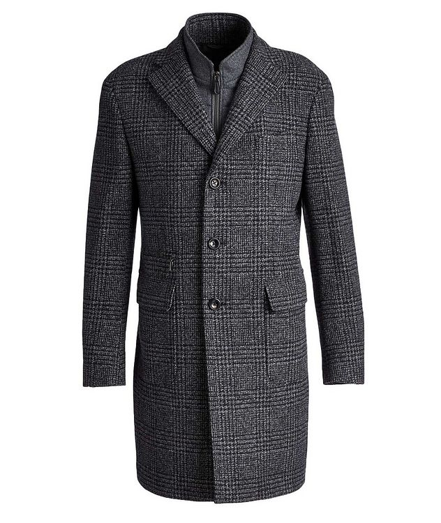 Checked Virgin Wool Overcoat picture 1