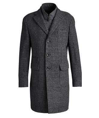 Harry Rosen Checked Virgin Wool Overcoat