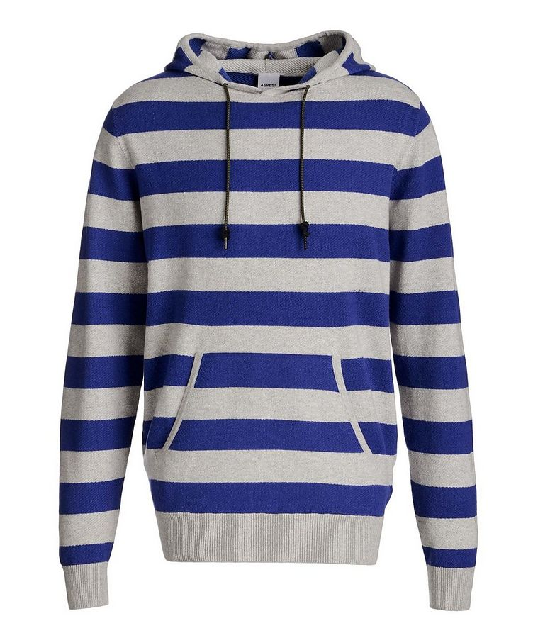 Striped Cotton, Cashmere, and Wool Hoodie image 0