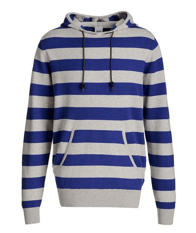 Striped Cotton, Cashmere, and Wool Hoodie picture 1