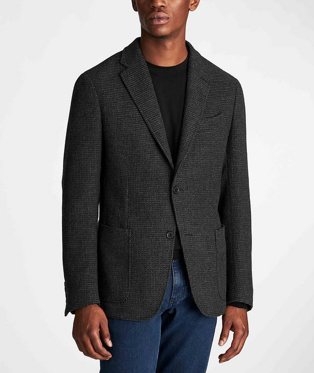 Unstructured Alpaca-Wool Sports Jacket picture 2
