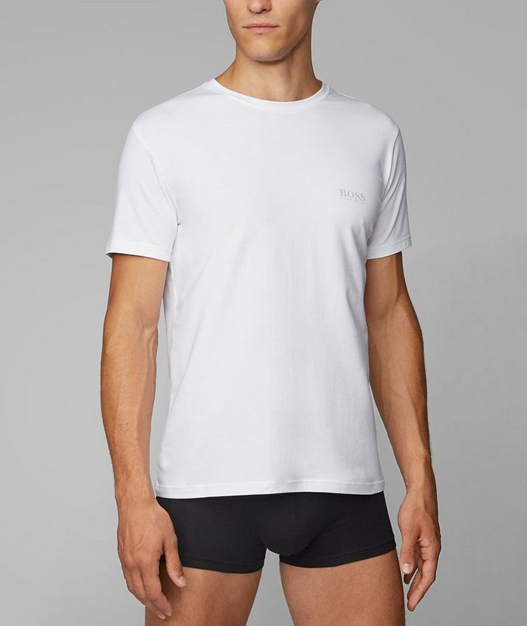 2-Pack Stretch-Cotton T-Shirts image 1
