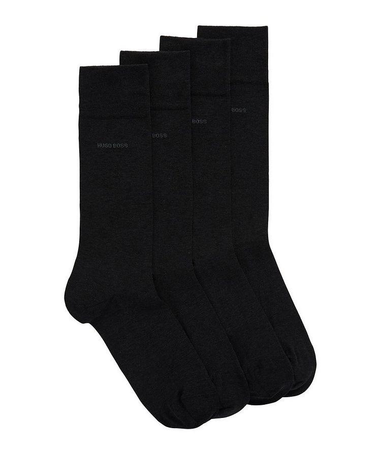 Ensemble de deux paires de chaussettes en coton mercerisé image 0