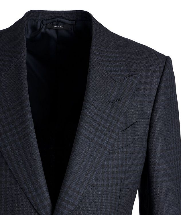 Shelton Plaid Wool-Mohair Sports Jacket picture 2