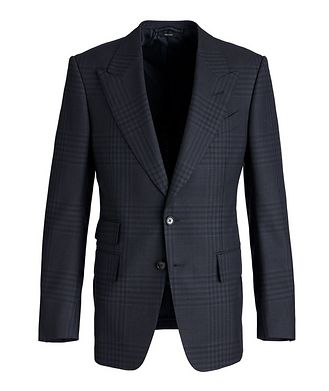 TOM FORD Shelton Plaid Wool-Mohair Sports Jacket
