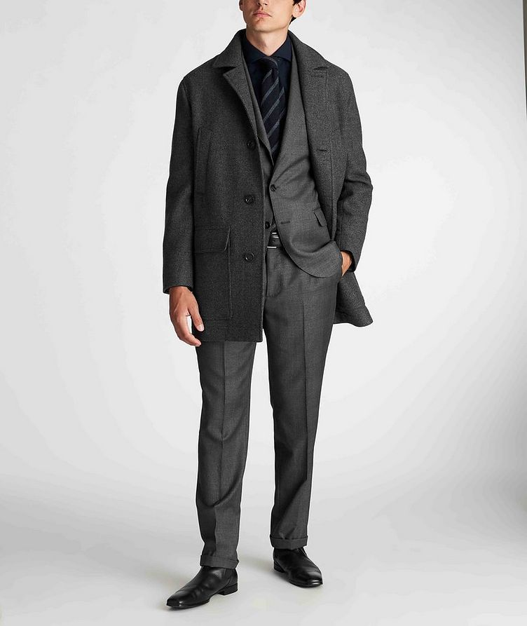 Contemporary Fit Checked Suit image 4