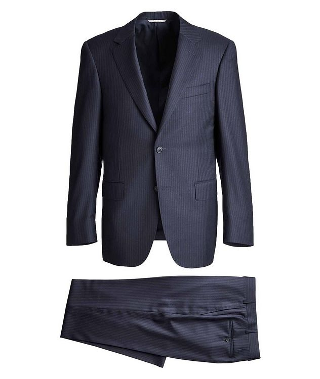 Contemporary Fit Pinstriped Suit picture 1