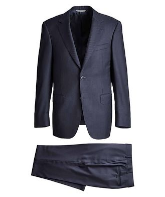 Canali Contemporary Fit Pinstriped Suit