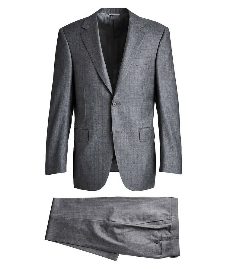 Contemporary Fit Pinstriped Suit image 0