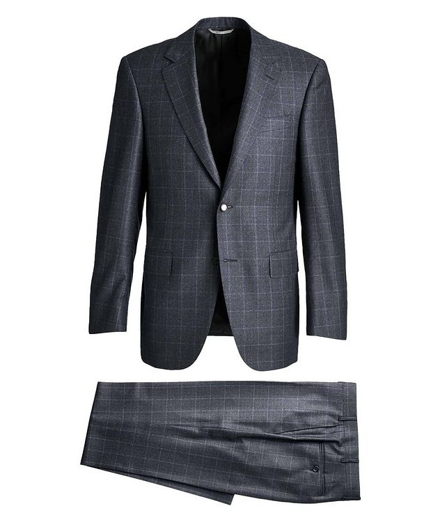 Contemporary Fit Windowpane Suit picture 1