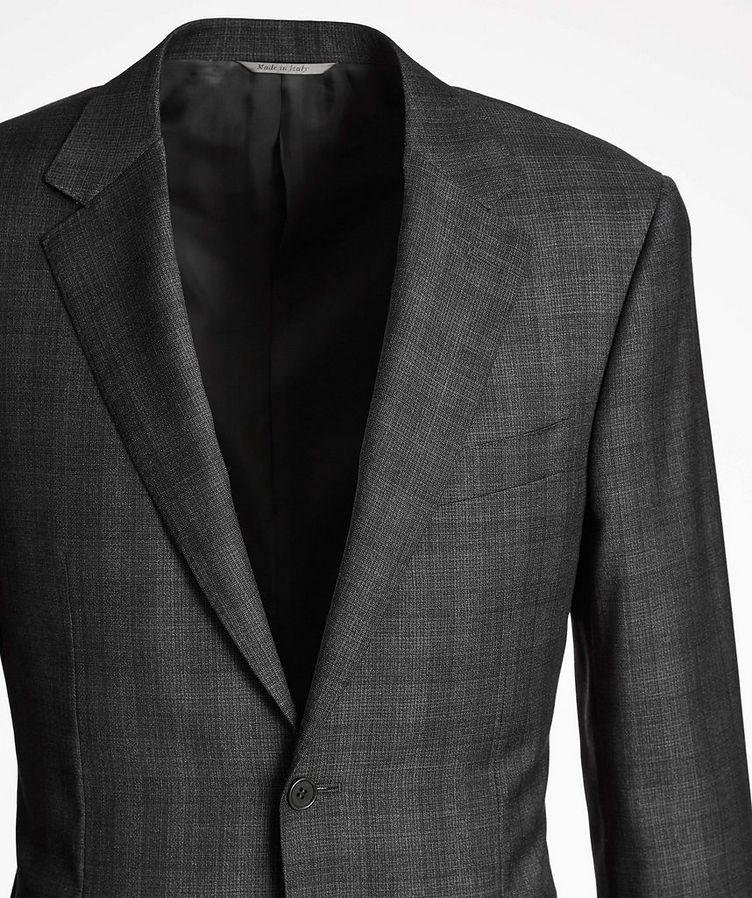 Natural Comfort Micro-Checked Wool Suit image 1