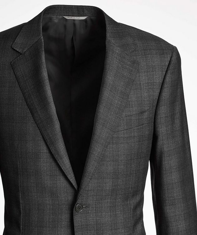 Natural Comfort Micro-Checked Wool Suit picture 2