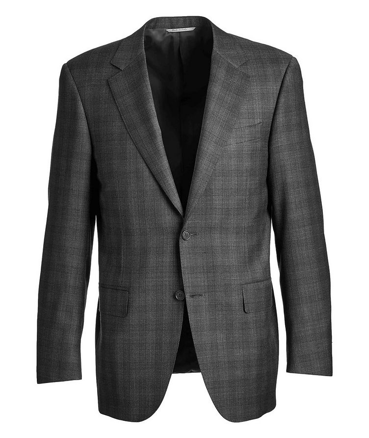 Natural Comfort Micro-Checked Wool Suit image 0