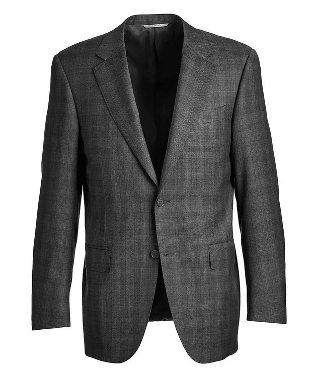 Natural Comfort Micro-Checked Wool Suit picture 1