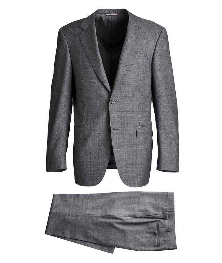Contemporary Fit Checked Suit image 0
