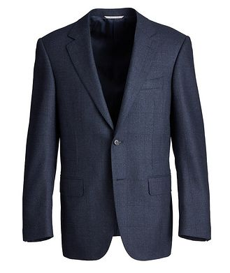 Canali Contemporary Fit Checked Suit