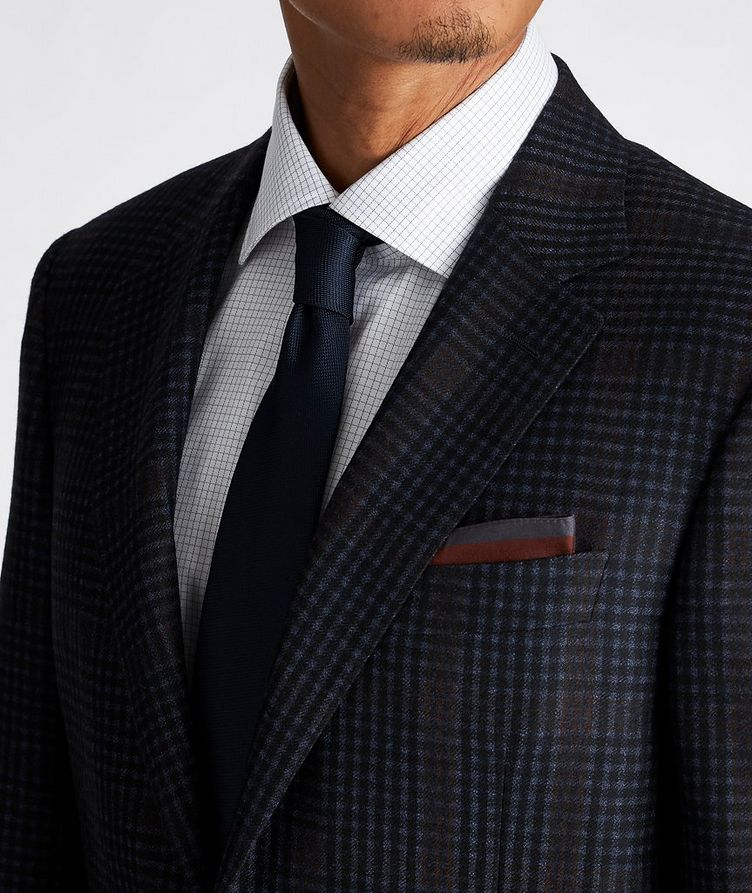 Contemporary Fit Checked Suit image 3