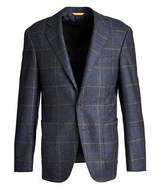 Canali Kei Checked Wool-Cashmere Sports Jacket