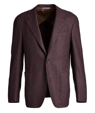 Canali Contemporary Fit Wool-Silk Sports Jacket