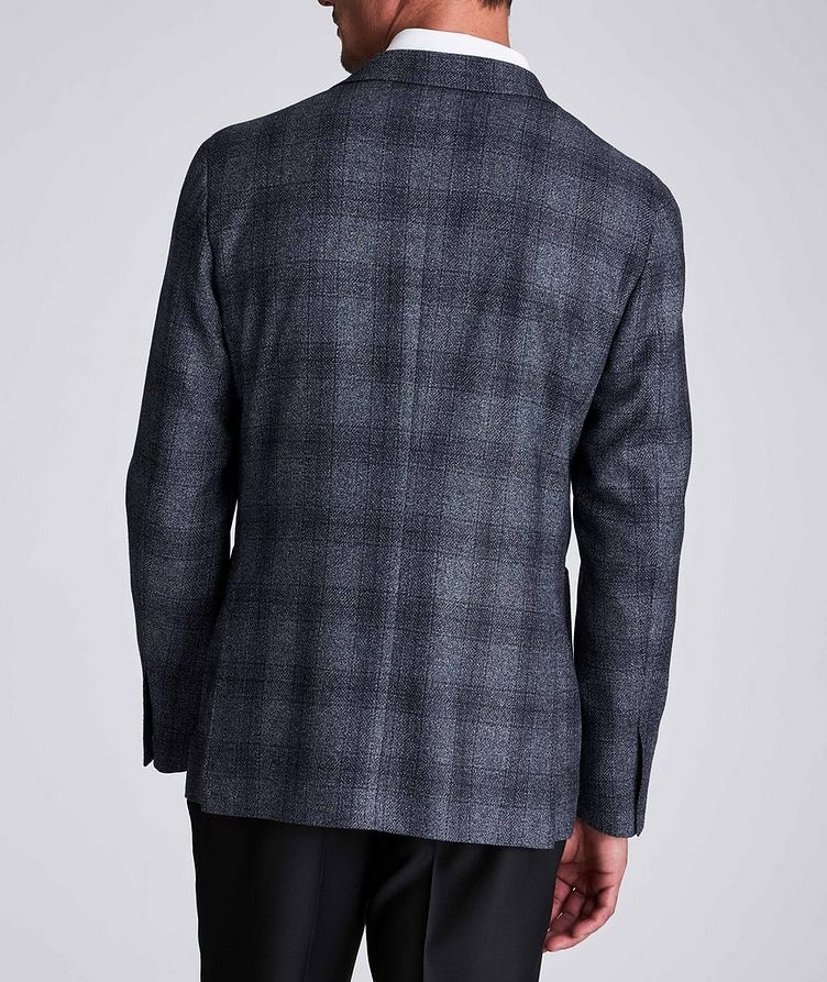 Contemporary Fit Checked Wool-Silk Sports Jacket image 2