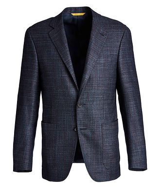 Canali Kei Checked Wool, Silk, and Cashmere Sports Jacket