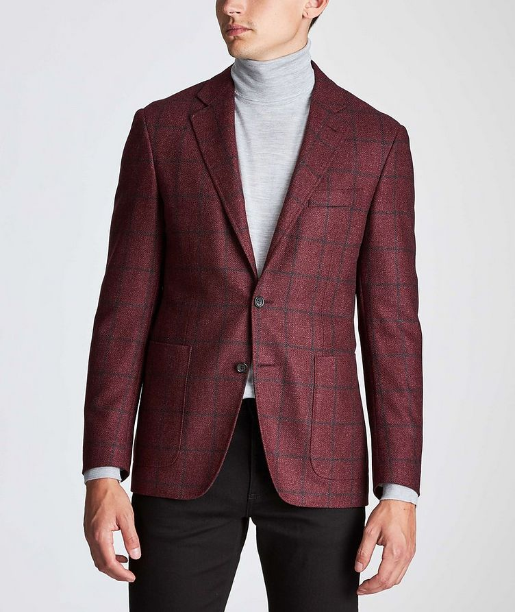 Kei Windowpane Wool-Silk Sports Jacket image 1