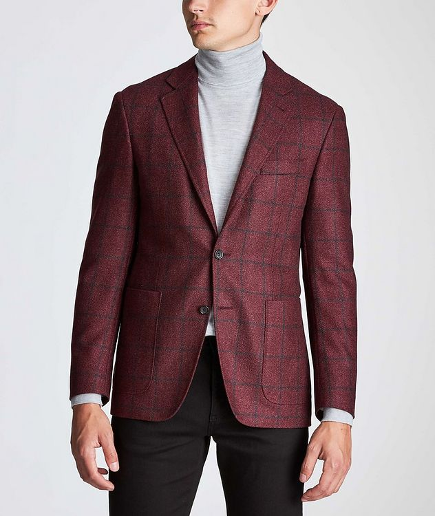 Kei Windowpane Wool-Silk Sports Jacket picture 2