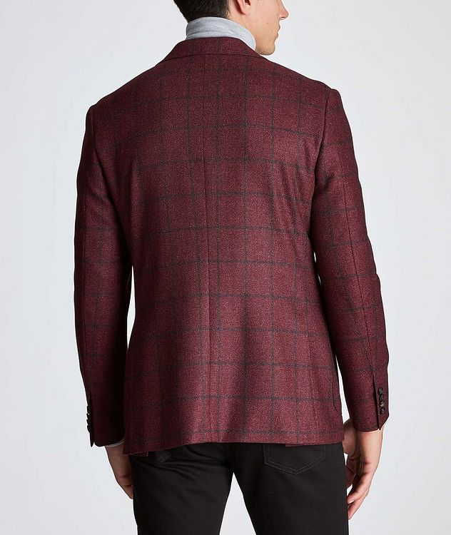 Kei Windowpane Wool-Silk Sports Jacket picture 3