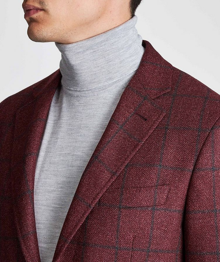 Kei Windowpane Wool-Silk Sports Jacket image 3